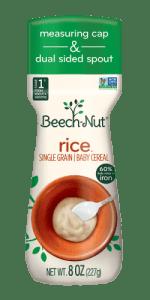 Beech-Nut Single Grain Rice Cereal Recall 2021