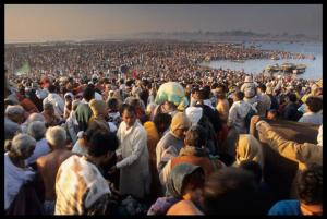 Millions of devotees at Ganges for Kumbh Mela