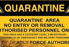 Ebola Quarantine Sign