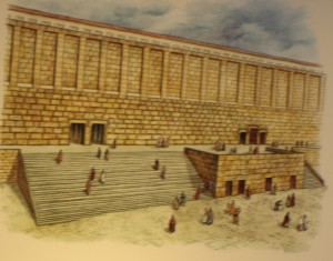 museum model of Water Gate for Feast of Tabernacles to carry water to the Temple