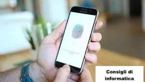 Come attivare l'impronta digitale su Samsung.