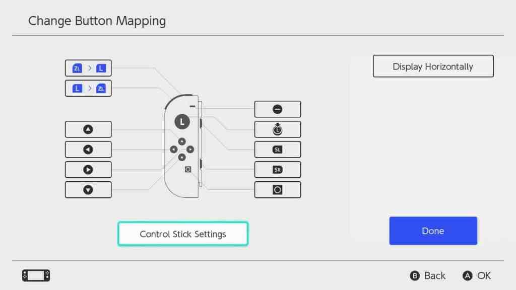 Come cambiare tasti Nintendo Switch