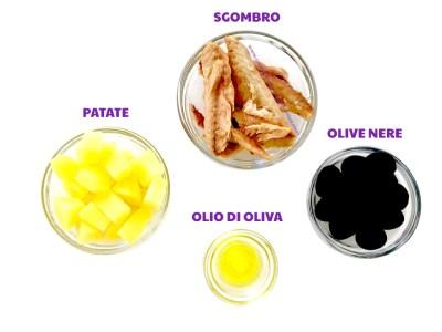 insalata di sgombro patate e olive nere