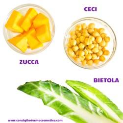 Pasta con Zucca Ceci e Bietola