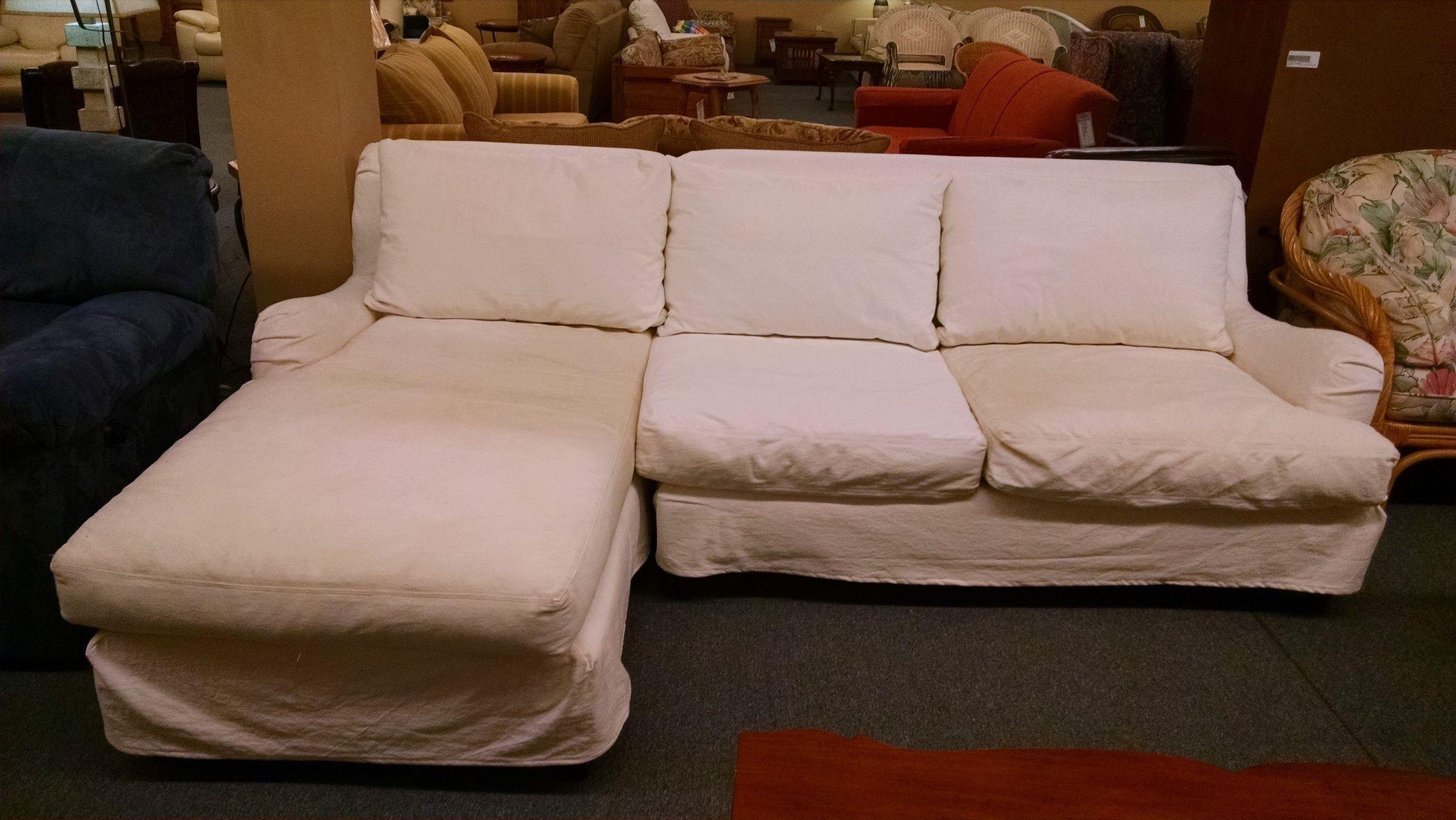 POTTERY BARN SLIPCOVER SOFA Delmarva Furniture Consignment