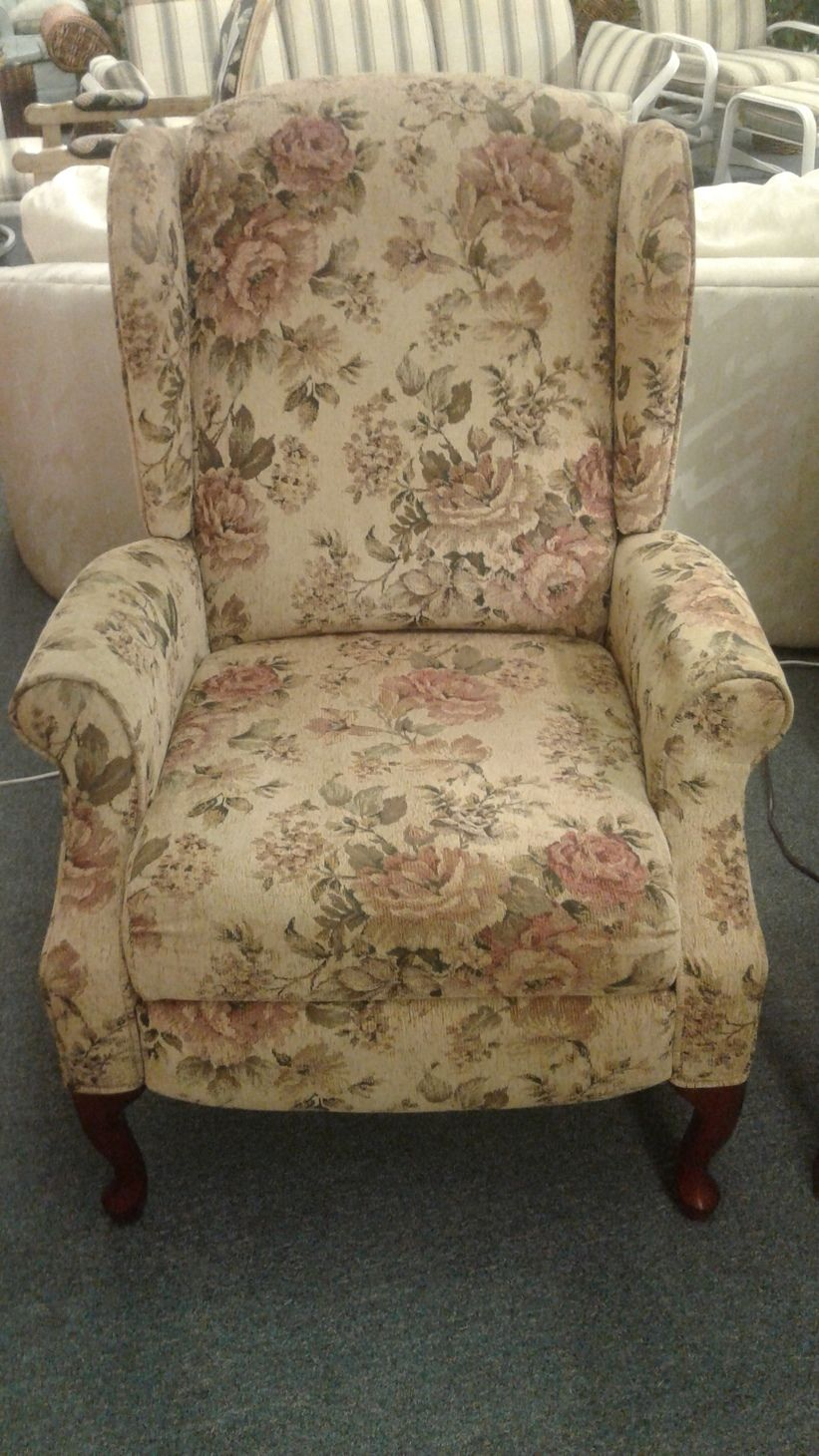 LANE FLORAL PUSH BACK RECLINER Delmarva Furniture