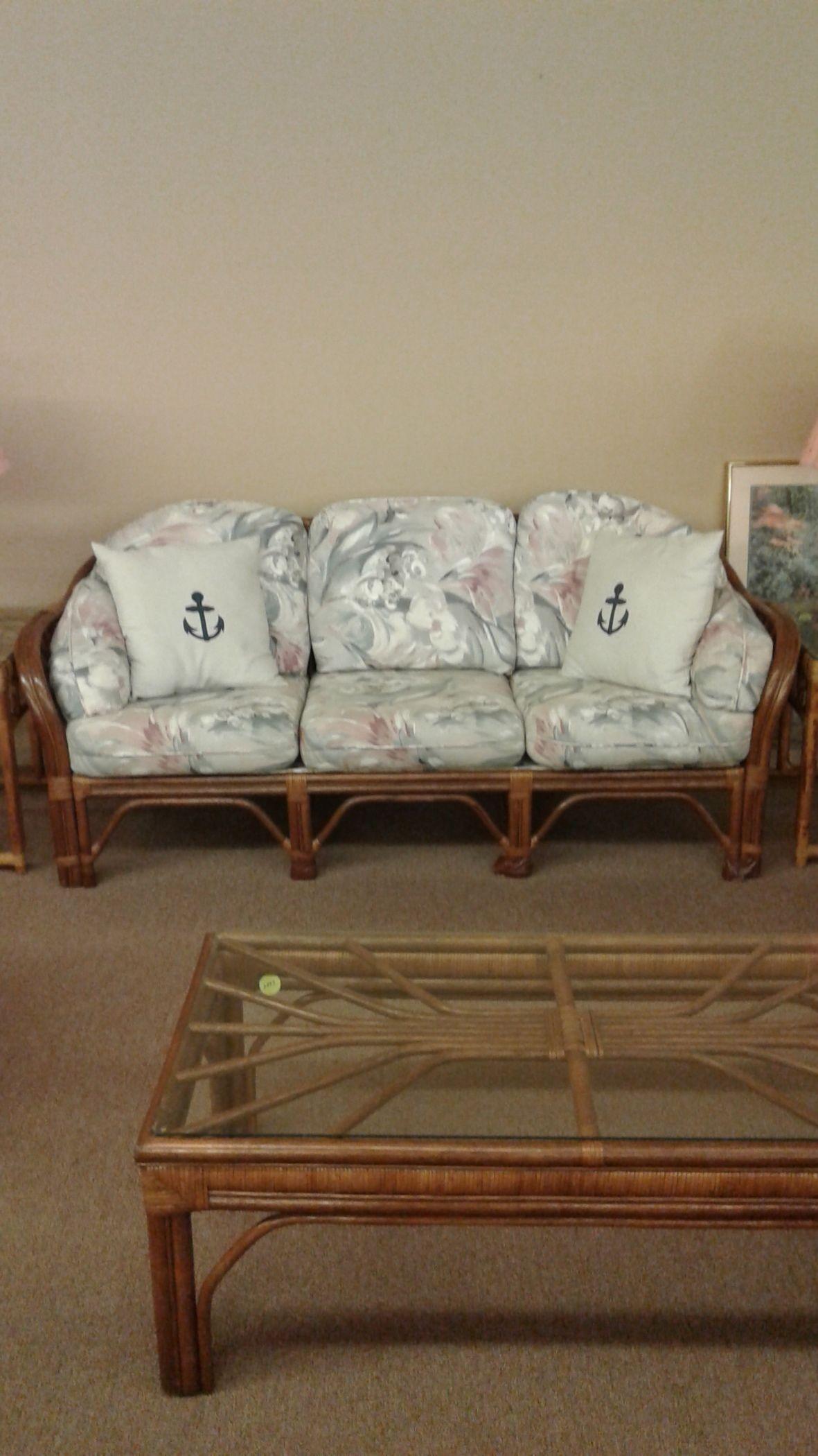 BENCH CRAFT RATTAN SOFA Delmarva Furniture Consignment