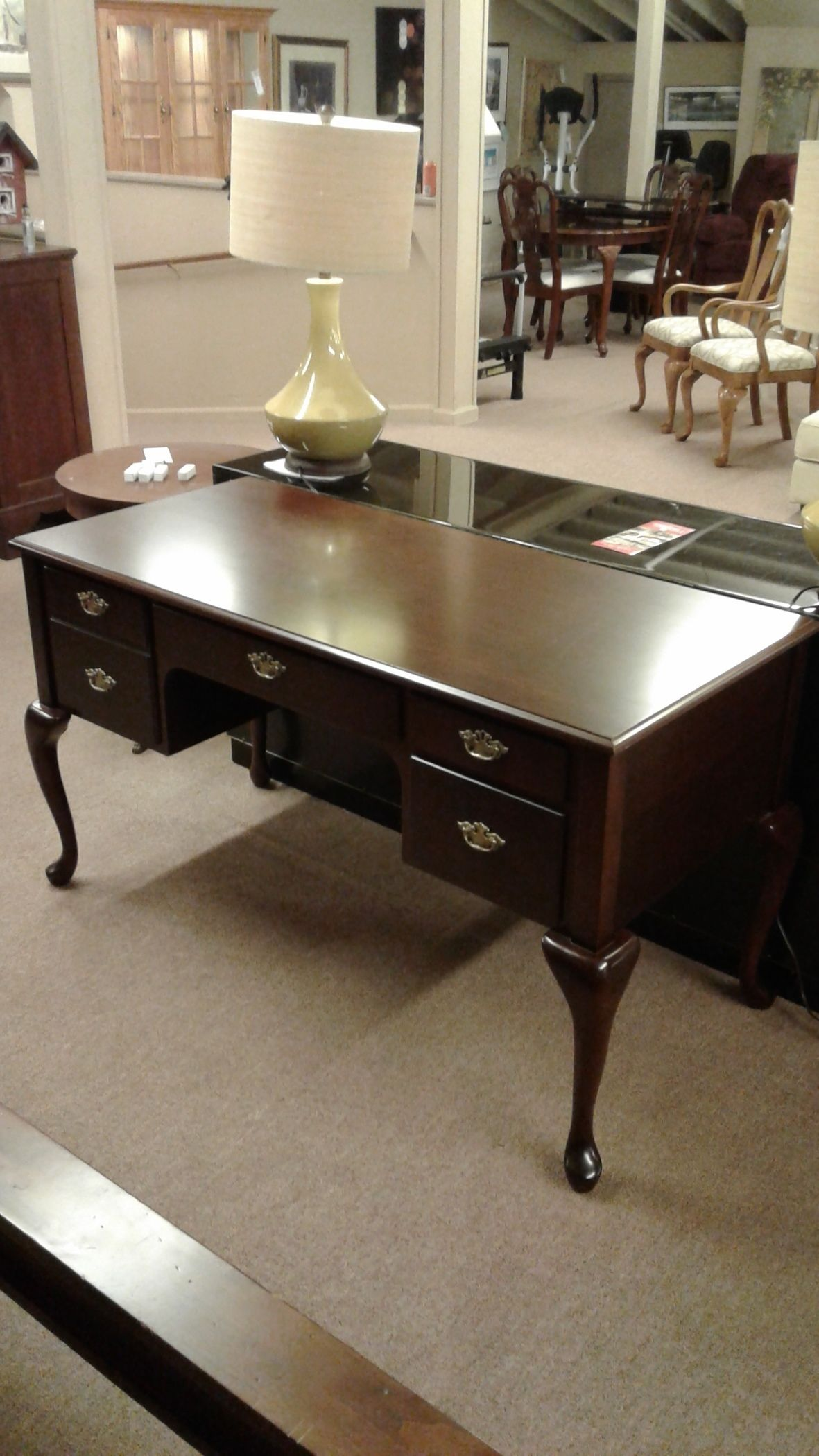 Amish Furniture Queen Anne Writing Desk