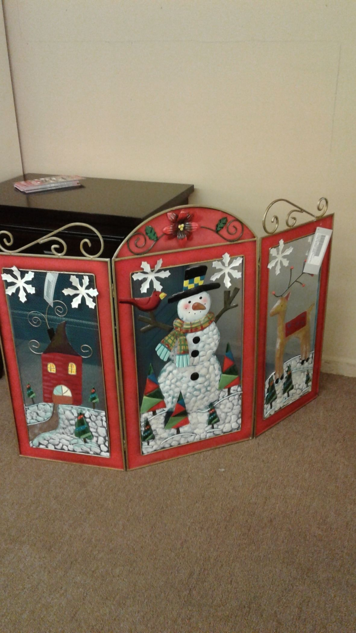 Christmas Fireplace Screen Delmarva Furniture Consignment