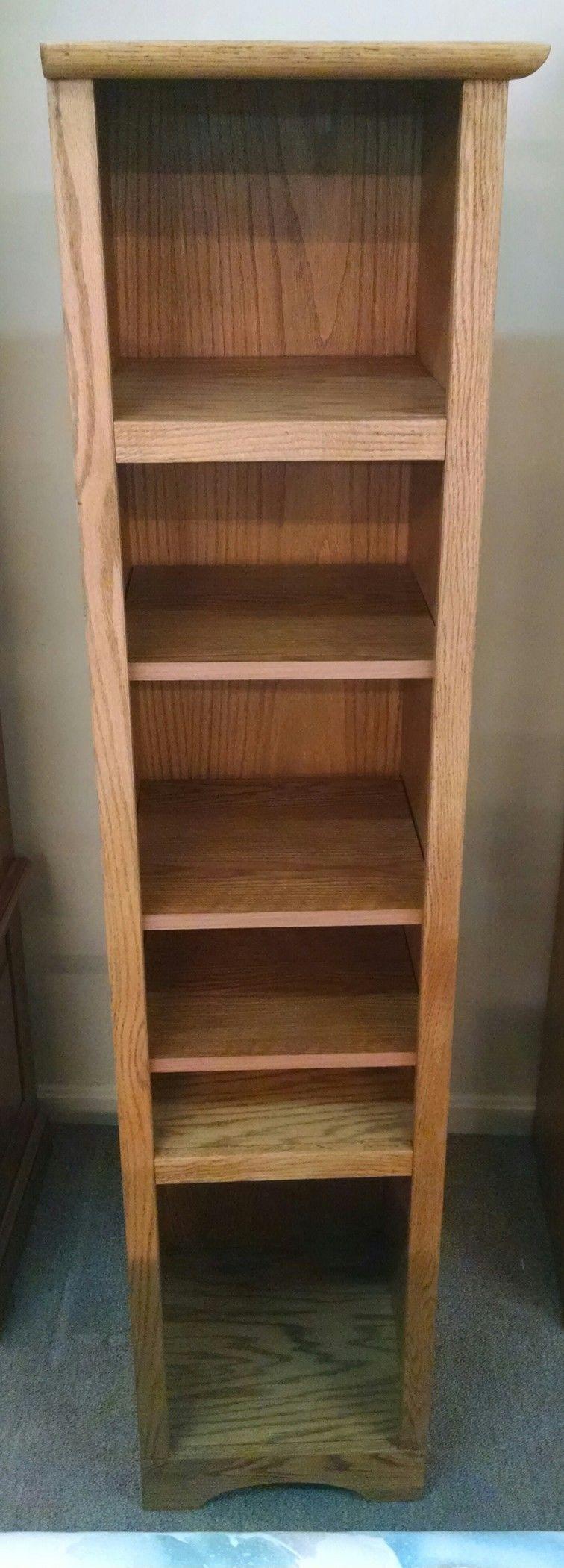 Tall Thin Bookcase 6 Shelves