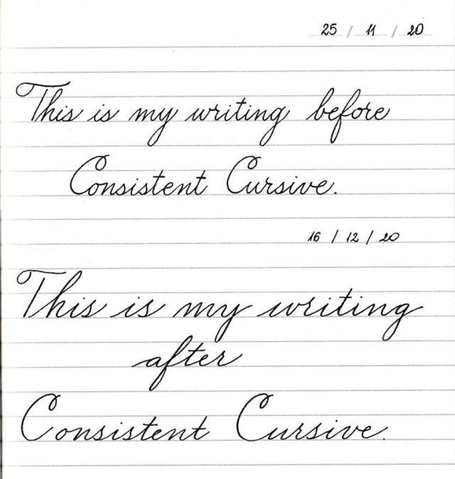 Learn to write Cursive - Consistent Cursive