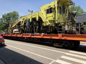Train on main street La Grange, KY