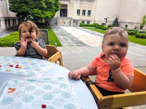 Fuel up at the Terrace Cafe at the Cincinnati Art Museum before or after your Baby Art Tour