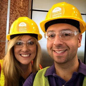 Hard Hats on for the Hard Hat Tour at Union Terminal