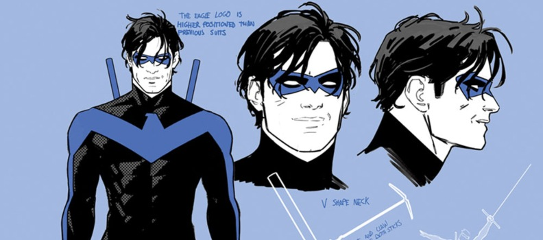 Nightwing's New Costume Includes Famous Blue Stripes