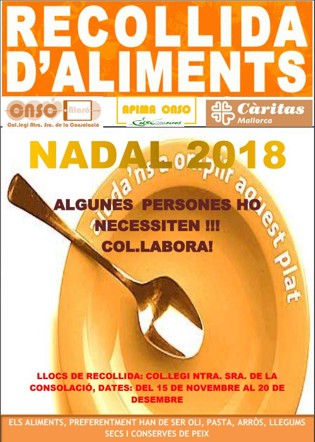 CARTELL RECOLLIDA ALIMENTS 18-19
