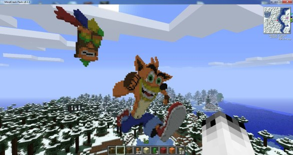 Minecraft Crash Bandicoot