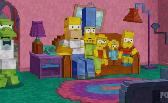 Minecraft en Los Simpsons