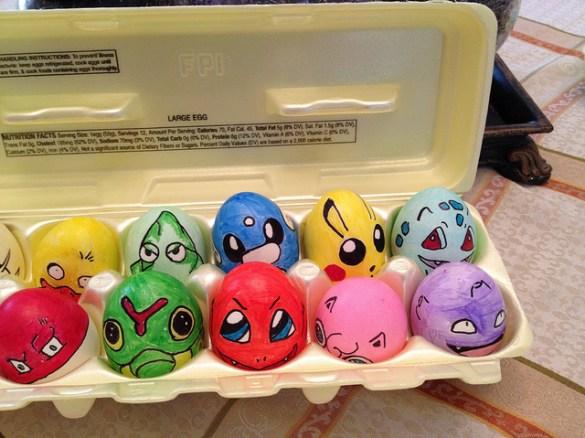 Huevos Pintados Pokemon