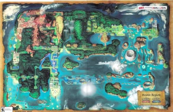 Mapa de Hoenn Pokemon Rubi Omega y Zafiro Alfa