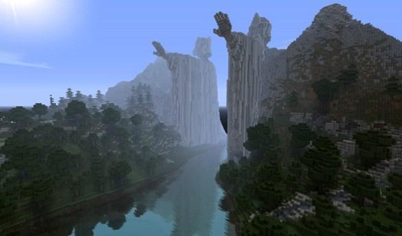 Argonath  Minecraft