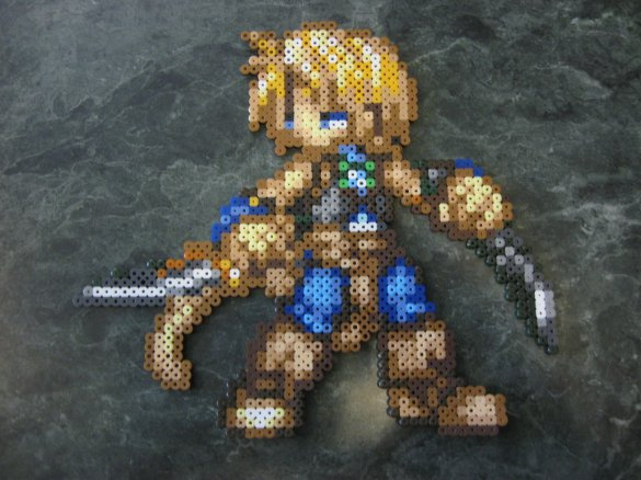 Hama beads Final Fantasy Zidane