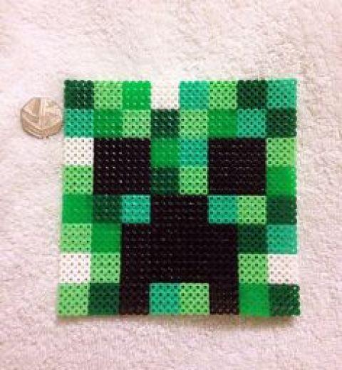 Hama Beads de Minecraft Cara
