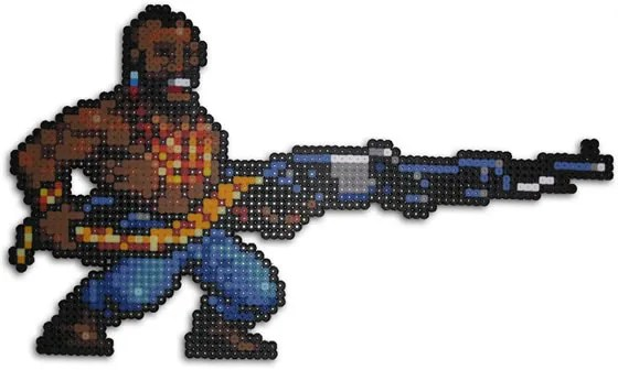 Hama Beads Metal Slug Enemigo