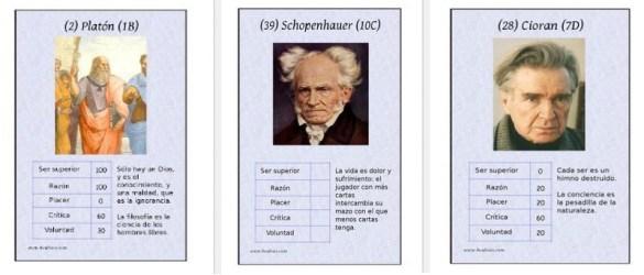 juego de cartas filosofia