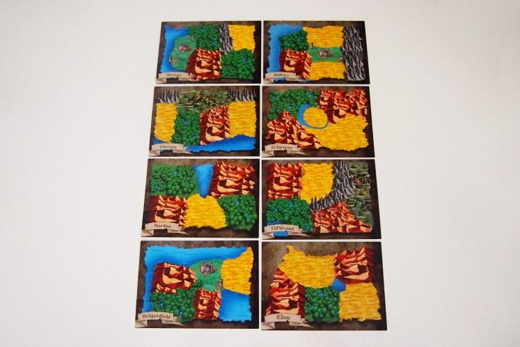 Las ocho cartas de territorio aportan 16 terrenos diferentes.
