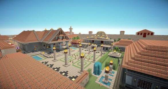 Templo Romano Minecraft