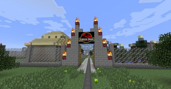 Entrada Jurassic Park Minecraft
