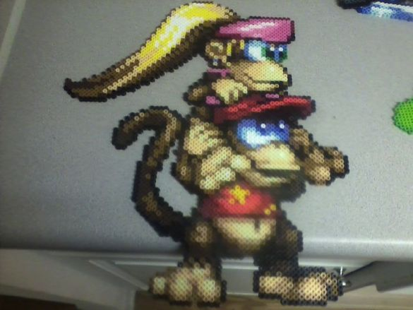 Hama Beads Dicie y Diddy Kong
