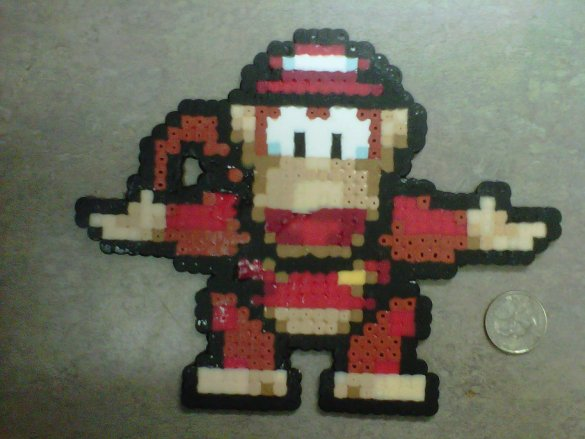 Hama Beads Diddy Kong1