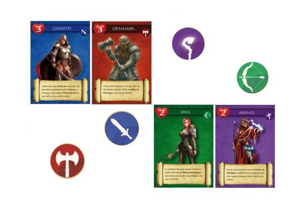 Algunos de los héroes del juego.