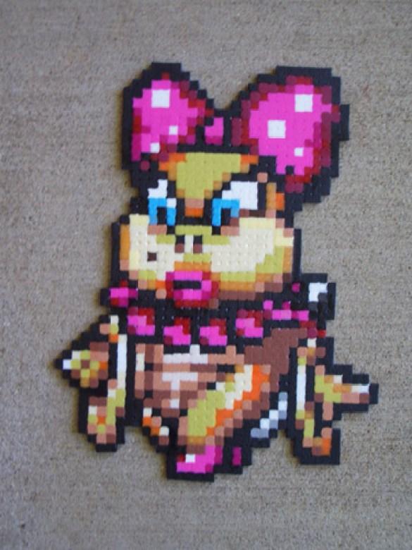 Hama Beads Wendy Koopa