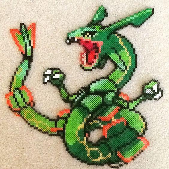 Hama Bead Pokemon Rayquaza