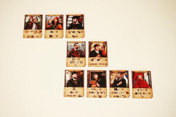Cartas de personajes (modo básico).