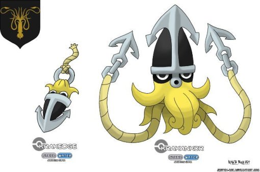 Pokemon Greyjoy Game of Thrones