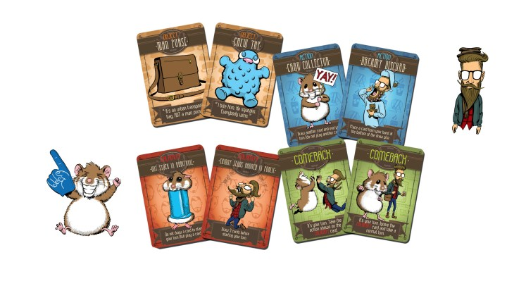 Hipsters and Hamsters board game