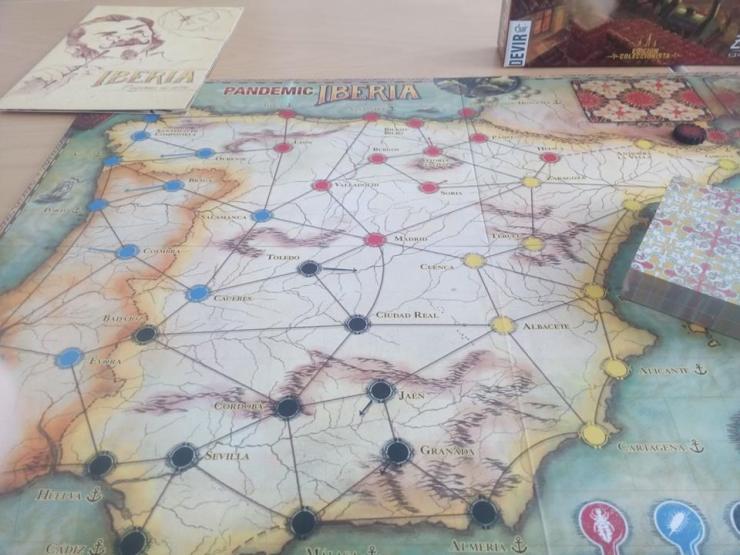 Pandemic Iberia tablero