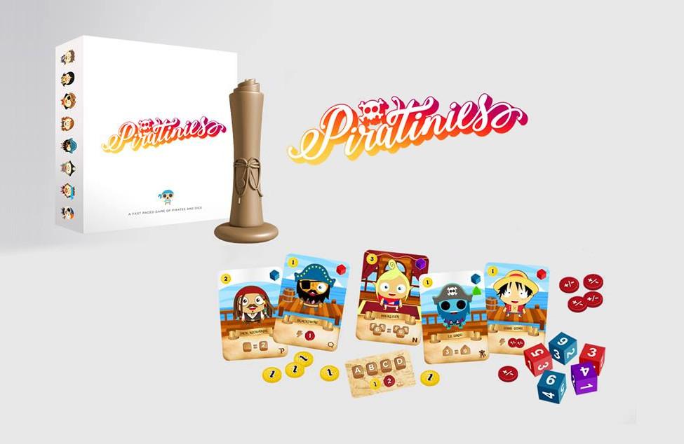 Presentado Piratinies, un juego de piratas y dados
