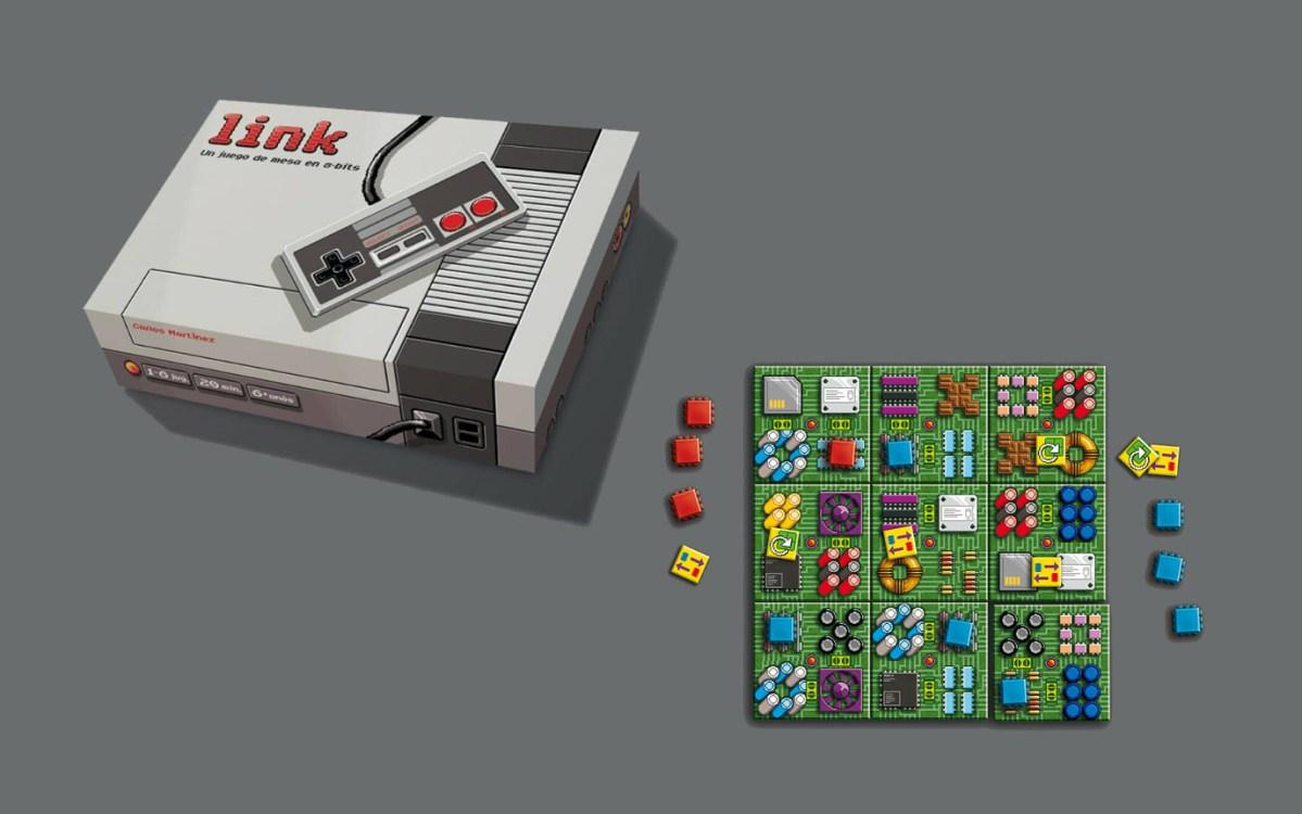 Link, el juego de mesa en 8 bits, llega a Verkami