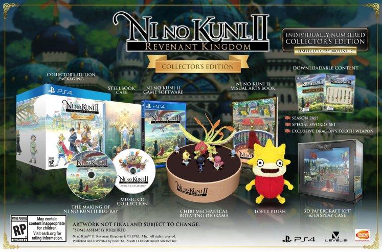 Ni No Kuni 2 ediciones especiales