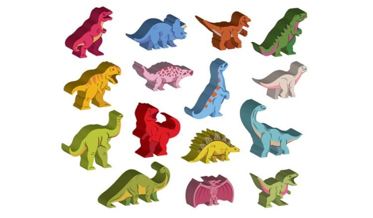 meeples especiales Dinosaur Island