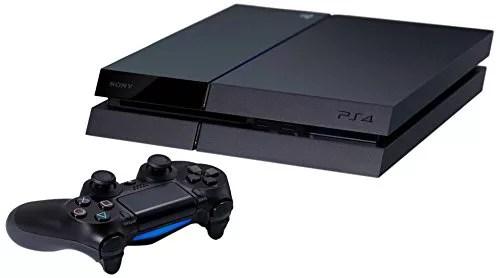 PS4 Noire avec une manette