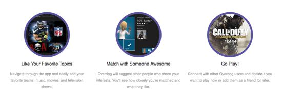 overdog réseau social xbox one