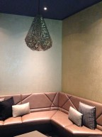 Lighting & seating in one of the exclusive Vault suites
