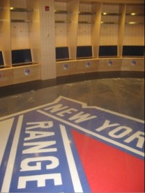 Custom Logo Carpet Installed - photo via Juliet Papas at 1010 Wins