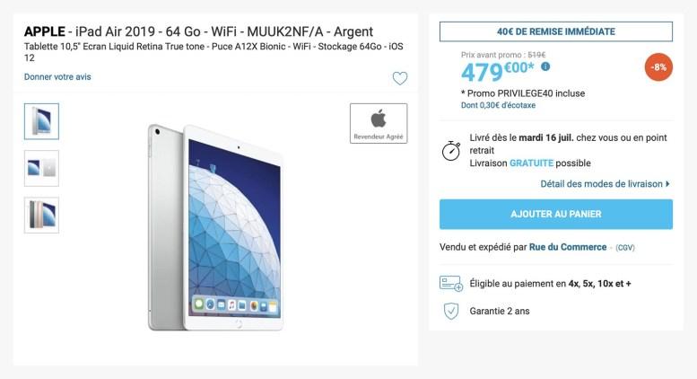 iPad Air3 Rue du Commerce